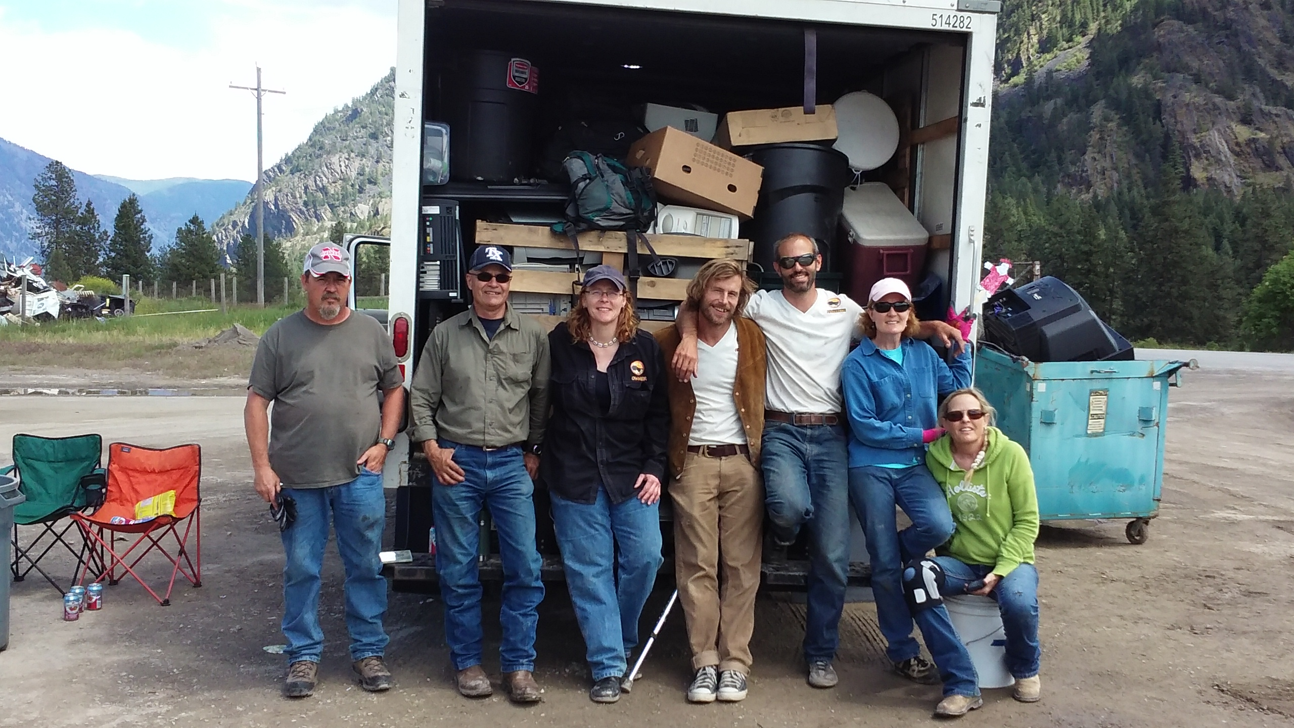 Montana sanders county dixon - 2017 E Waste Event Crew With 4 13 Tons Collected